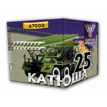"""Батарея салютов (ракетница) """"Катюша 25"""" 0,4""""х25 залпов A7000"""