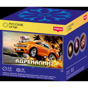"""Батарея салютов """"Адреналин""""  0.8""""х25 залпов PK8052"""