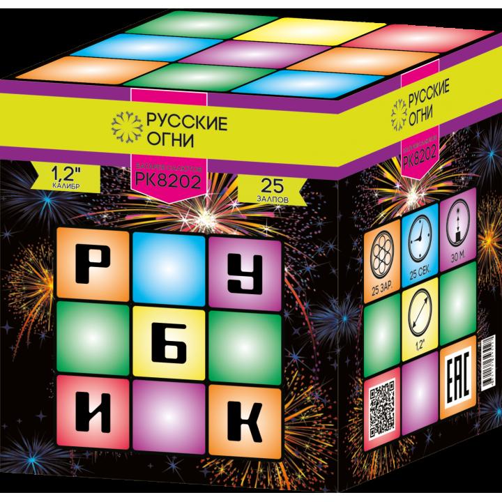 """Батарея салютов """"Рубик"""" 1,2""""х25 залпов PK8202"""