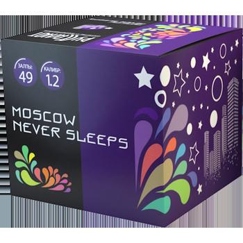 "Батарея салютов ""Moscow Never Sleeps"" 1,2""х49"