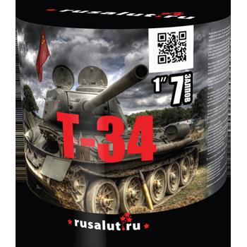 """Батарея салютов """"Т34"""" 1""""х7 залпов EC003"""