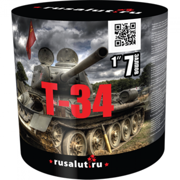 "Батарея салютов ""Т34"" 1""х7"