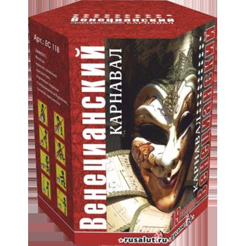 """Батарея салютов """"Венецианский карнавал"""" (+ фонтан) 1,2""""х19 залпов EC384"""