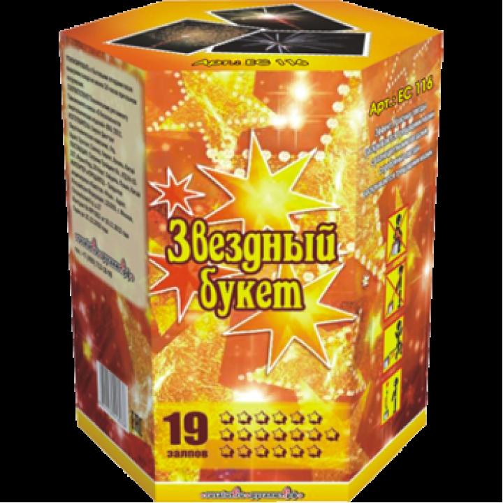 """Батарея салютов """"Звездный букет"""" 1,2""""х19 залпов EC116"""