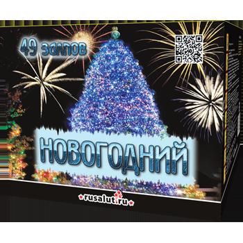 "Батарея салютов ""Новогодний"" 0,8""х49"