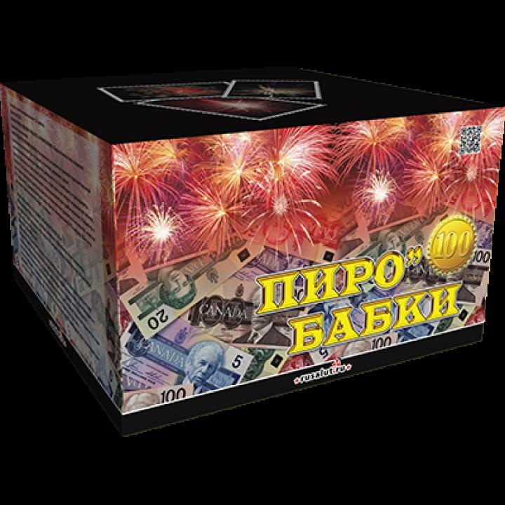 """Батарея салютов """"Пиробабки"""" 1,2""""х100 залпов EC216"""